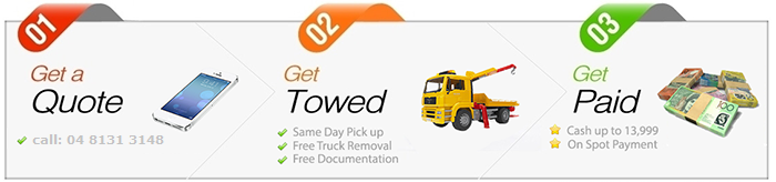 Cash for scrap Trucks Brisbane Simple Three Steps